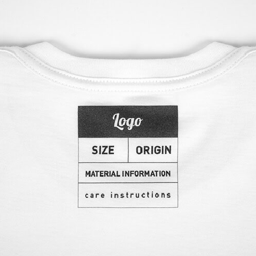 White shirt with inside label