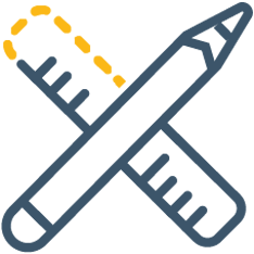 Pen and ruler icon