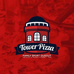 Tower Pizza logo design