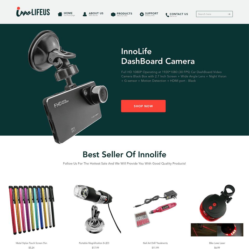 InnoLife website homepage design