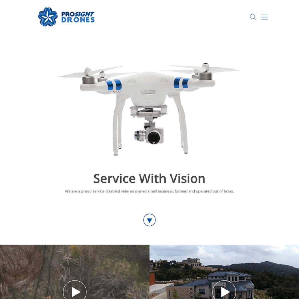 Prosight website homepage design