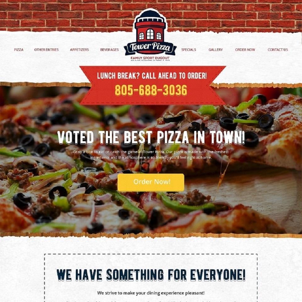 Tower pizza website design 2
