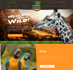Cebu Safari website design layout