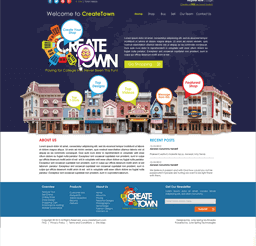 Create Town website design layout