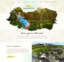 Paramount Property Ventures website design layout