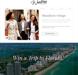 Woodbine website design layout