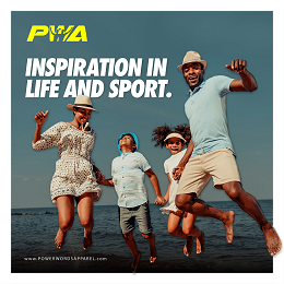 PWA Inspirational post with happy family by the beach