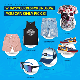 Sinulog social media design with what's your peg fashion men's version style