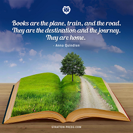 Stratton Press motivational quotes with a book of nature page