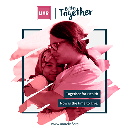 UMR Healthcare campaign with a mother embracing her daughter lovingly