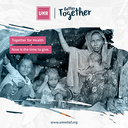 UMR Together For Health campaign with a family on the snow