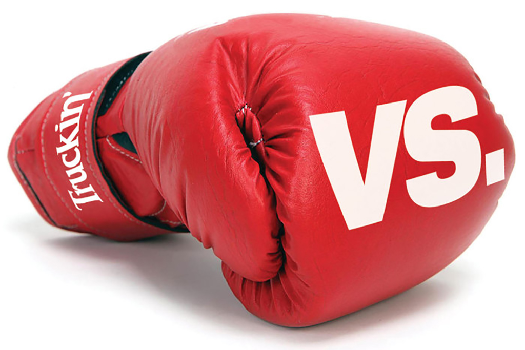 A red boxing gloves