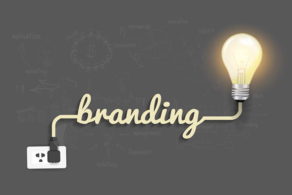 Creative light bulb ideas with branding concept