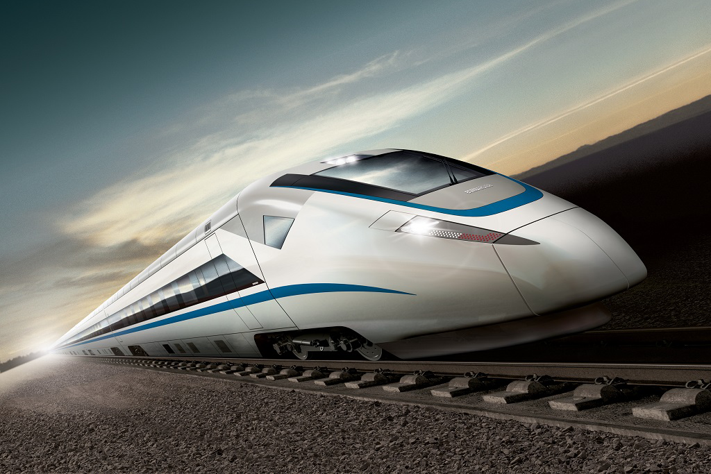 Super streamlined high-speed train