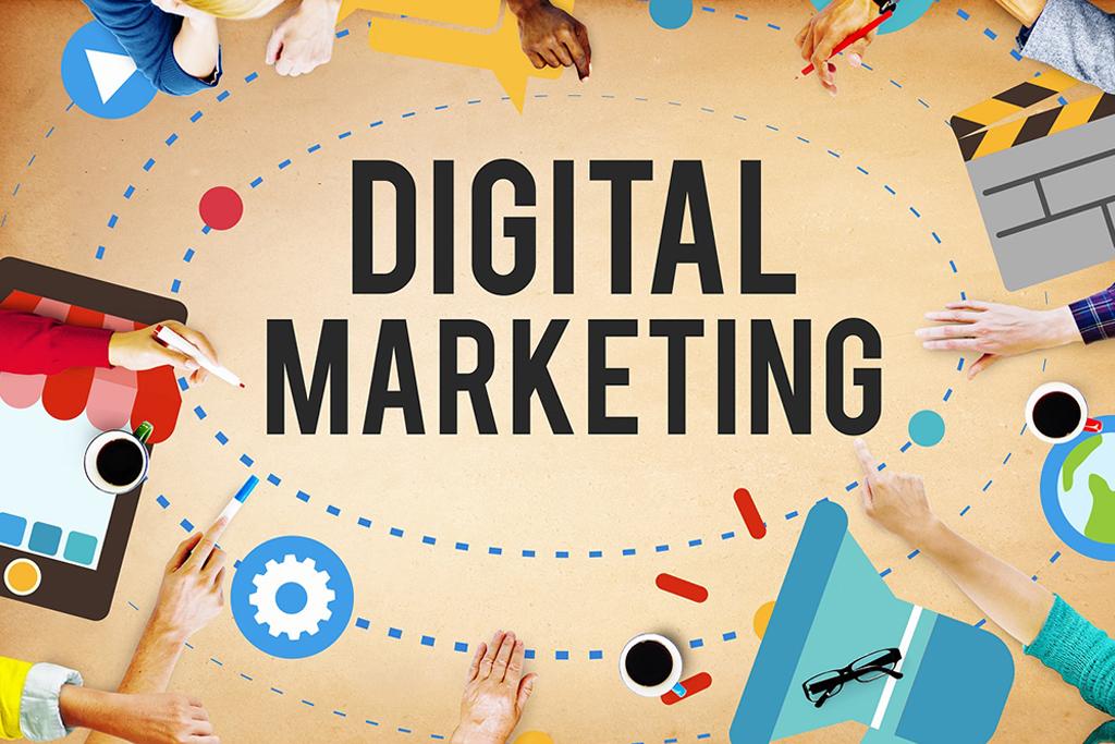 Digital marketing promotion campaign technology concept