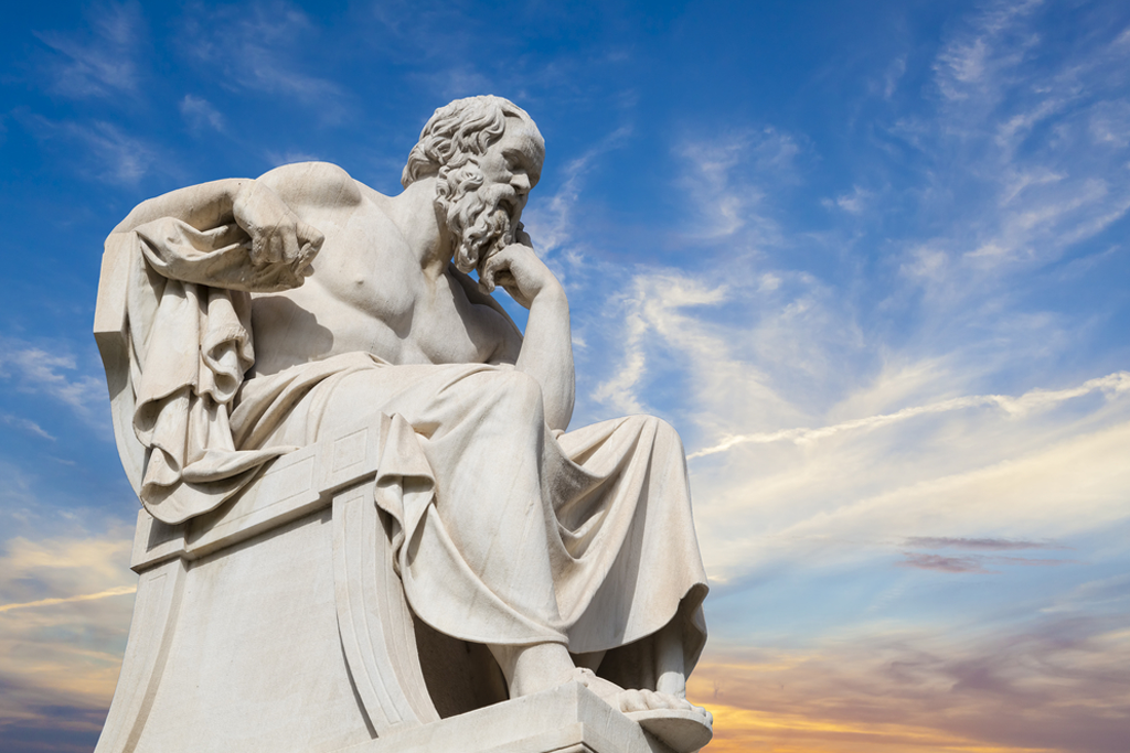 Statue of Socrates from the Academy of Athens