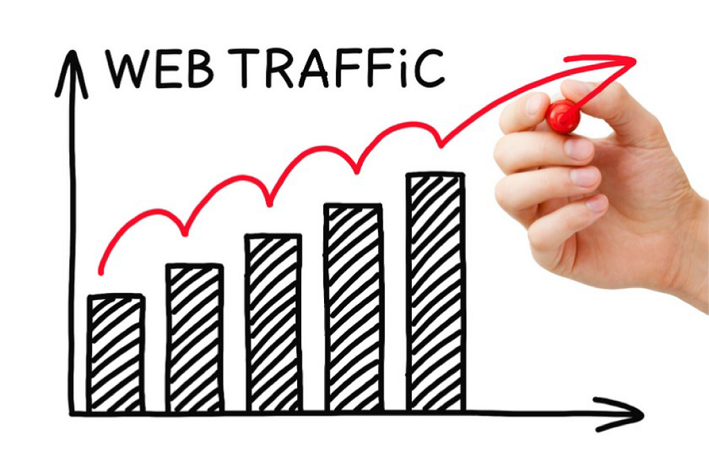 Infographic graph of web traffic